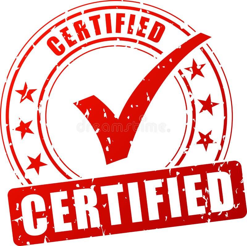 Selo vermelho certificado ilustração royalty free