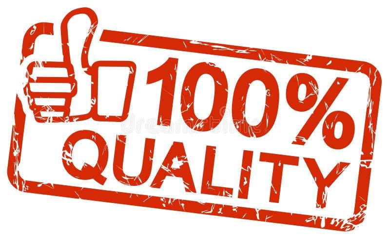 selo vermelho com qualidade 100% do texto ilustração royalty free