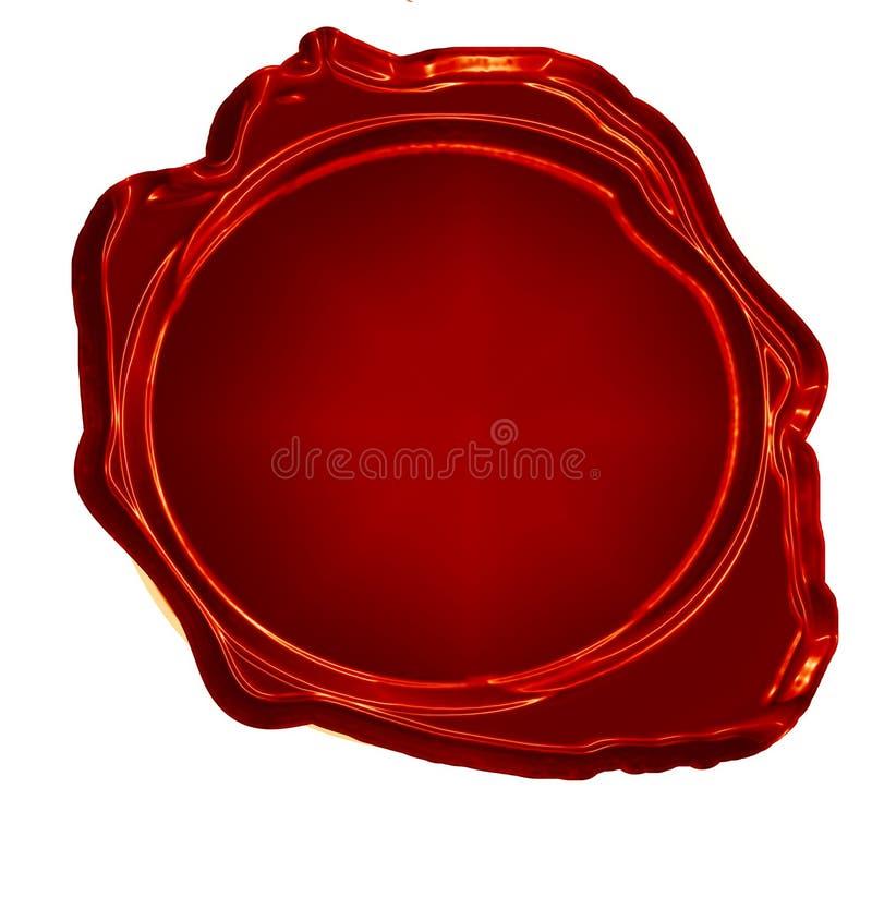 Selo vermelho da cera ilustração royalty free