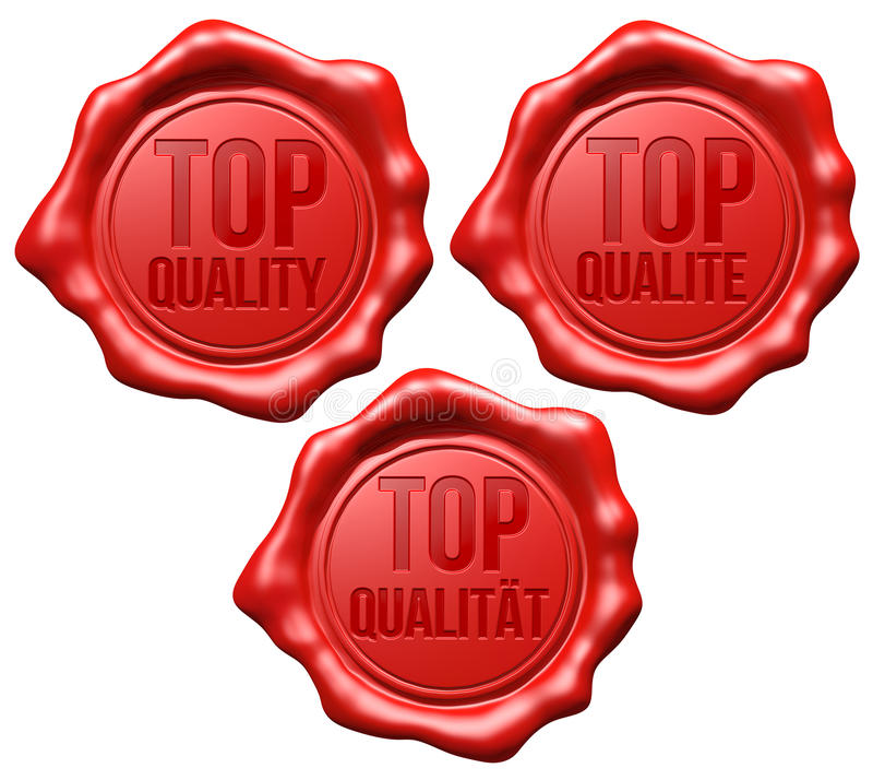 Selo vermelho da cera: Qualidade superior - grupo ilustração royalty free