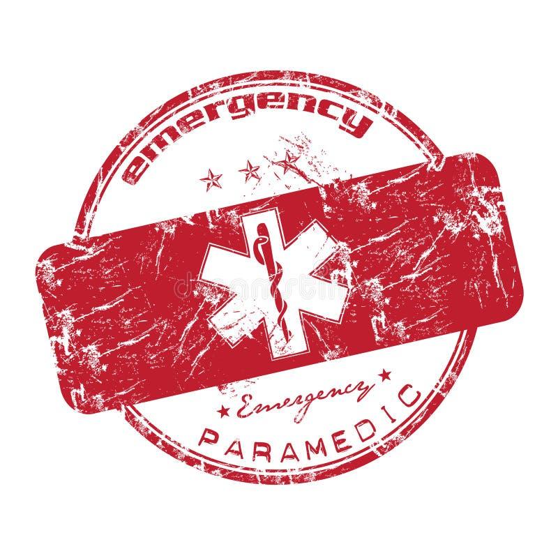 Selo vermelho da emergência ilustração stock