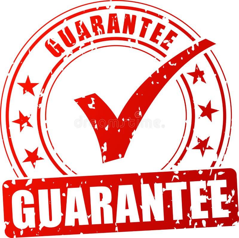 Selo vermelho da garantia ilustração royalty free