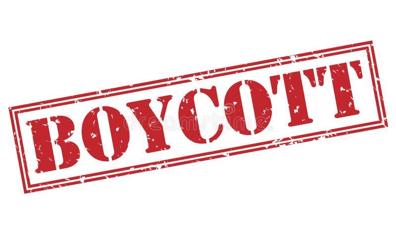 Selo vermelho do boicote ilustração do vetor