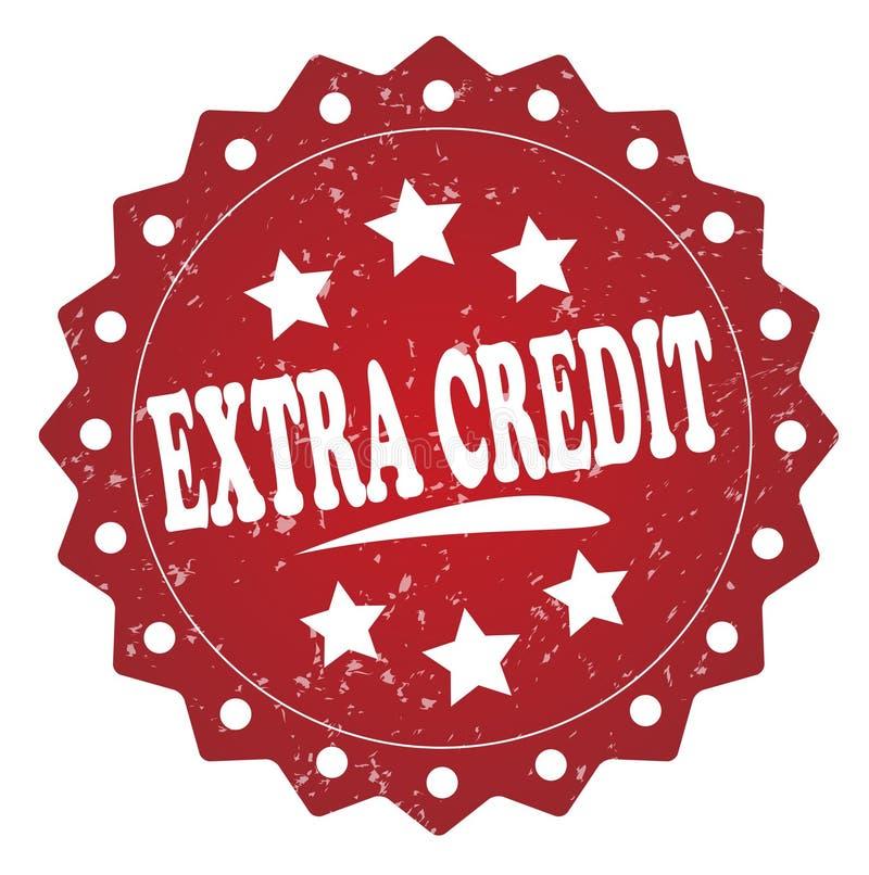 Selo vermelho do crédito extra ilustração stock