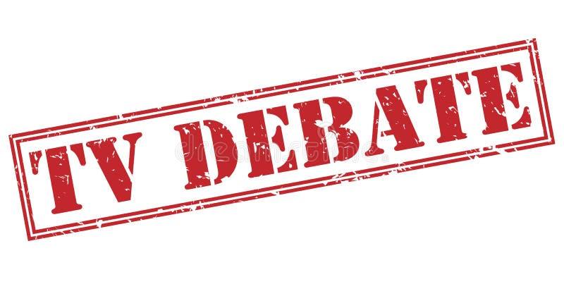 Selo vermelho do debate da tevê ilustração stock
