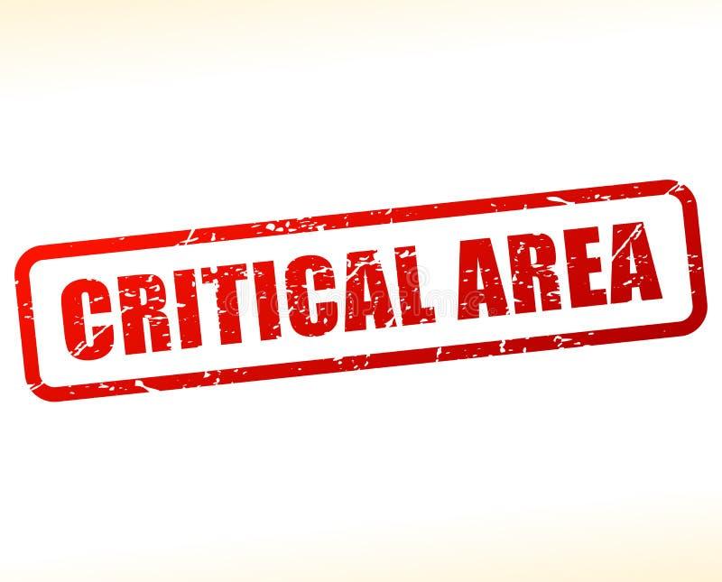 Selo vermelho do texto da área crítica ilustração stock