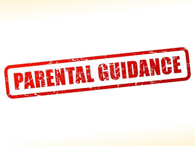 Selo vermelho do texto da orientação parental ilustração do vetor