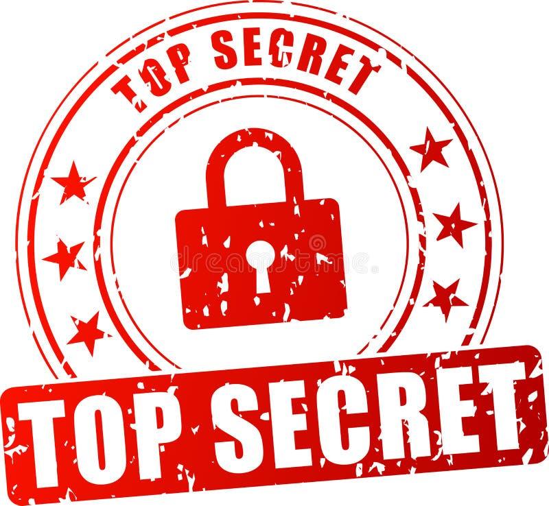 Selo vermelho extremamente secreto ilustração stock