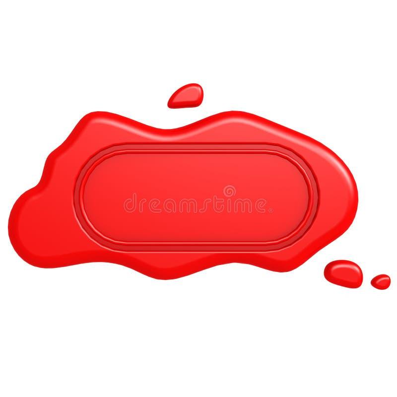 Selo vermelho oblongo ilustração do vetor
