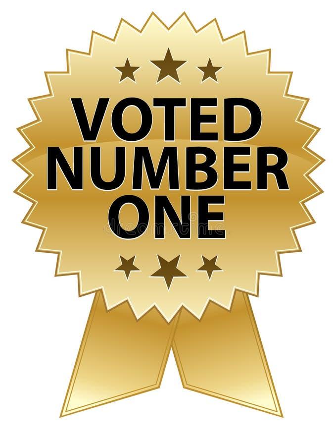 Selo votado do número um ilustração royalty free