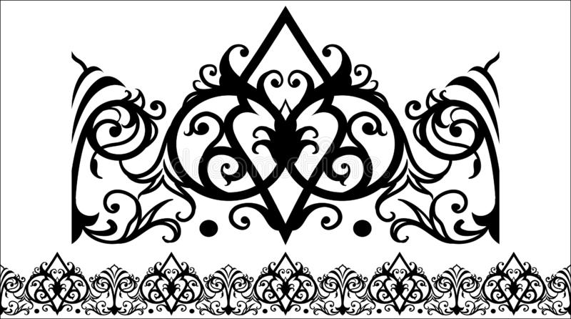 Selok del ORNAMENTO 4 del VECTOR awarawar libre illustration