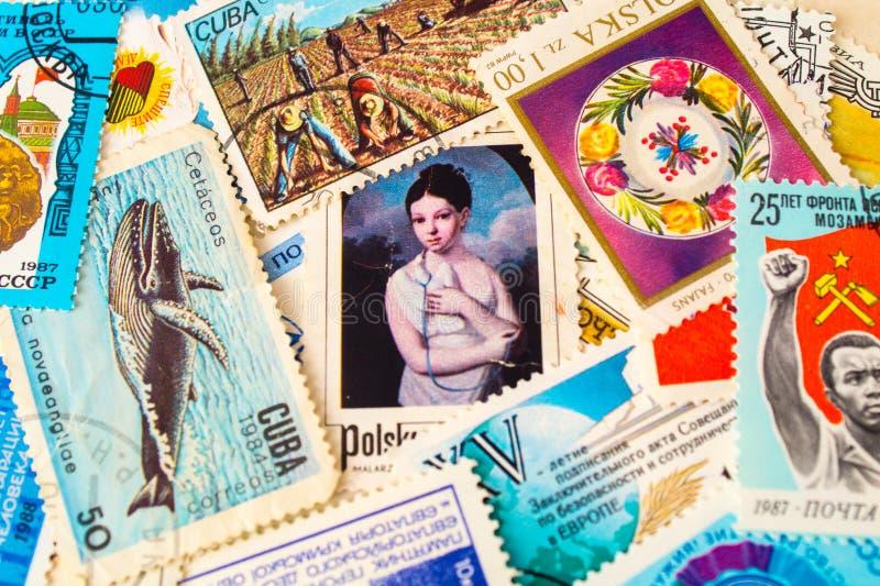 selos imagem de stock