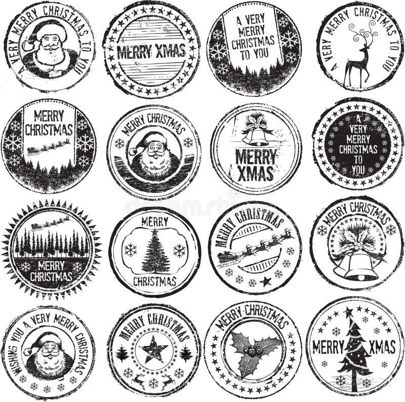 Selos alegres do xmas ilustração stock