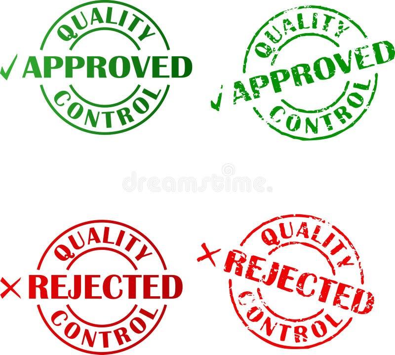 Selos aprovados e rejeitados da tinta ilustração stock