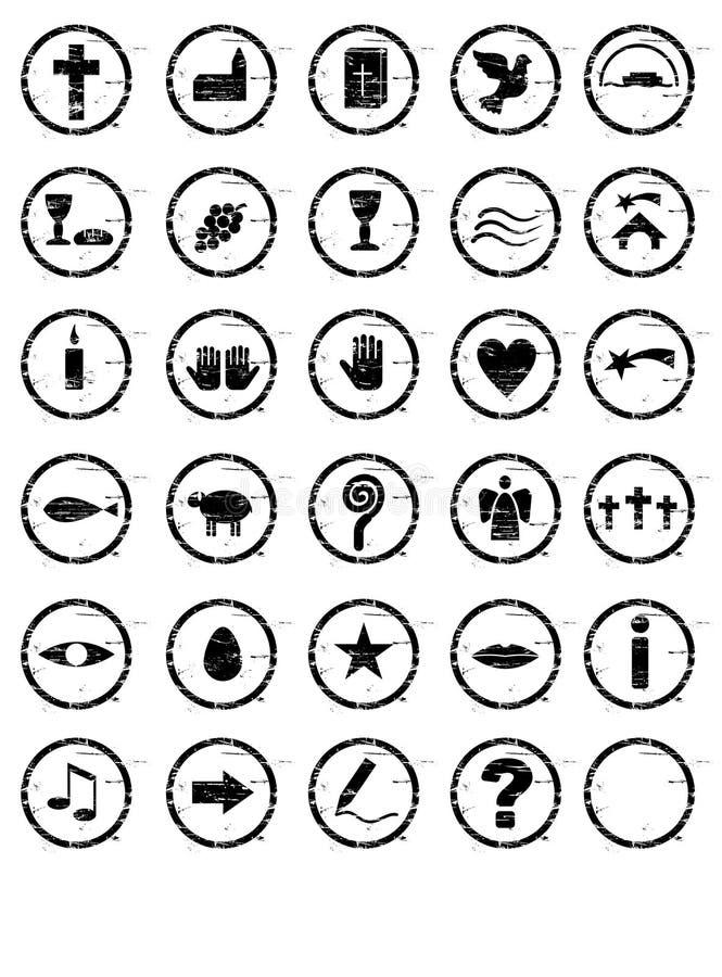 Selos cristãos ilustração stock