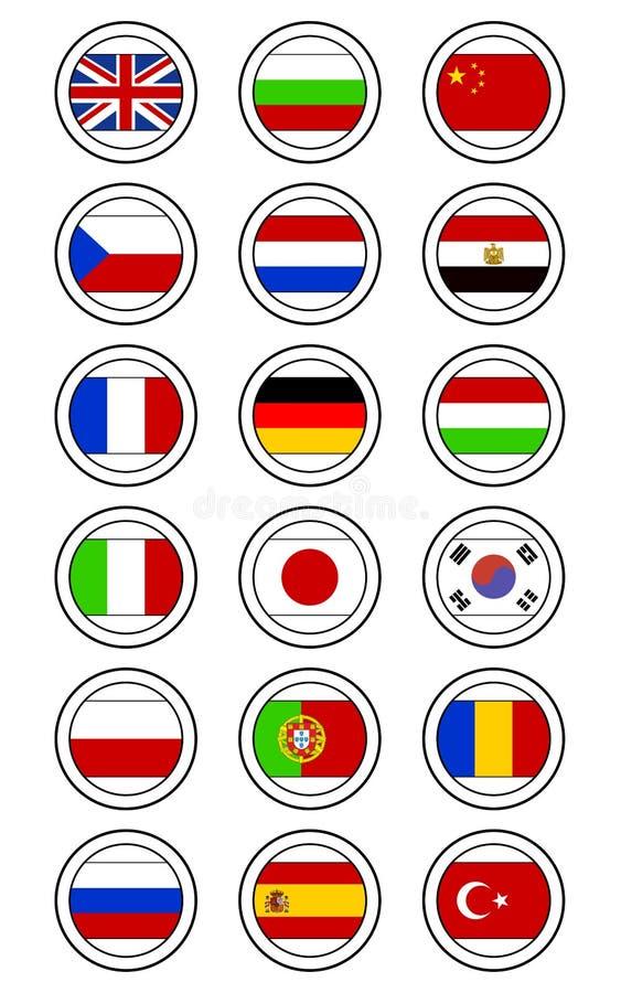 Selos da bandeira ilustração do vetor