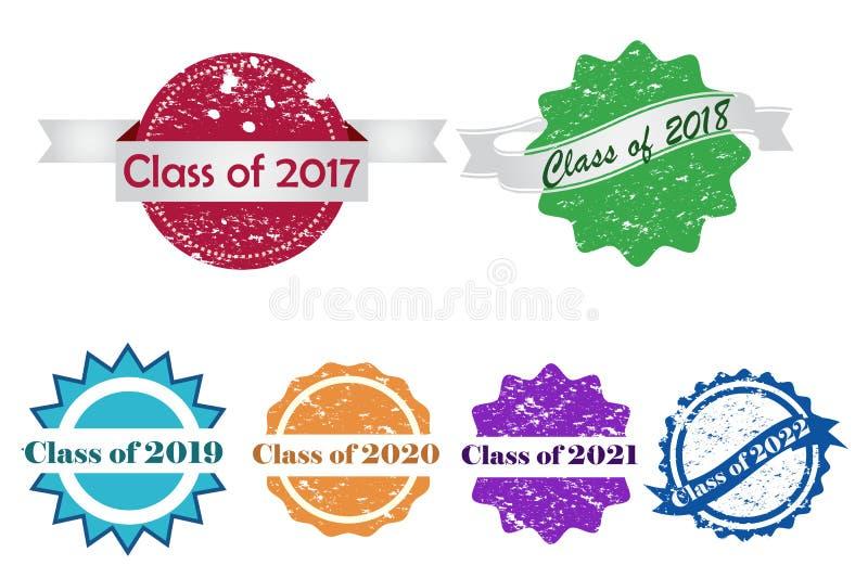 Selos da graduação ilustração royalty free