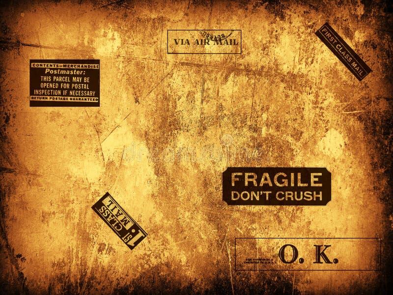 Selos de correio frágeis ilustração stock