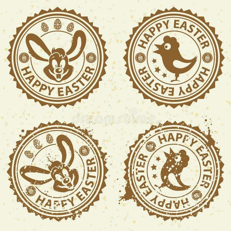 Selos de Easter ilustração royalty free
