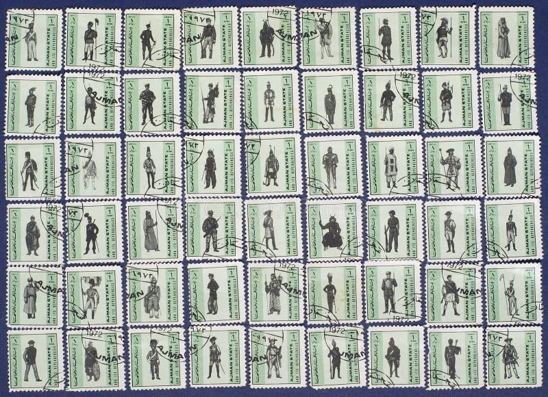 Selos de porte postal. imagens de stock royalty free