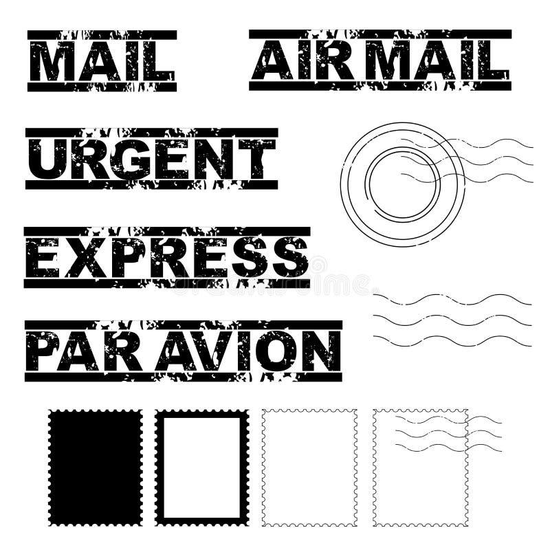 Selos de porte postal ilustração do vetor