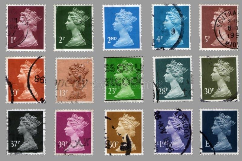 Selos De Porte Postal Britânicos Foto de Stock