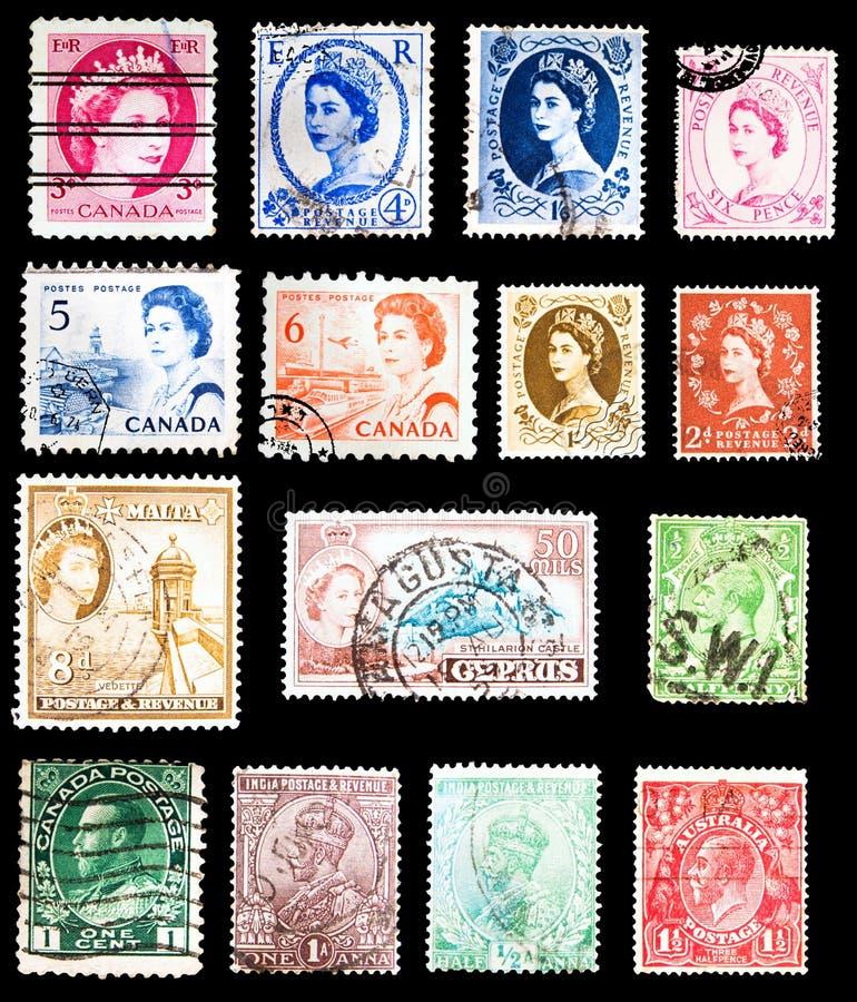 Selos de porte postal - comunidade das nações fotografia de stock royalty free