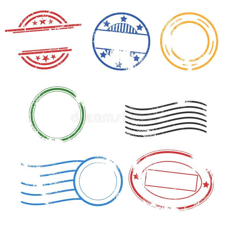 Selos de porte postal de borracha ilustração royalty free