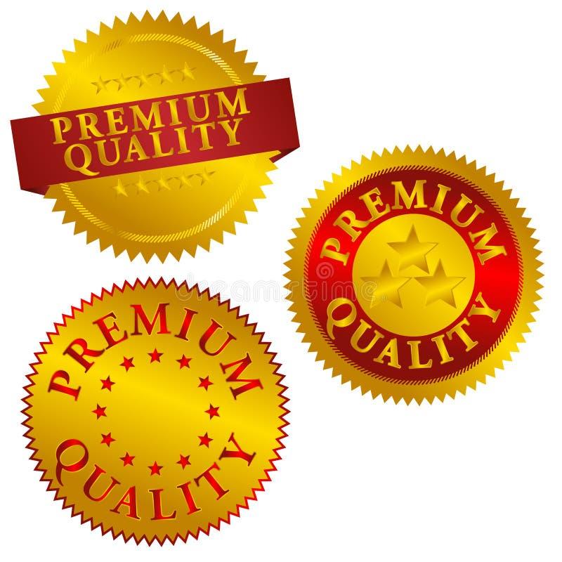 Selos de qualidade superiores ilustração royalty free