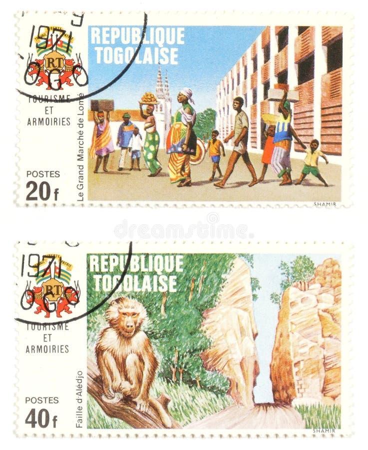 Selos do borne de Togo - collectibles exóticos fotografia de stock