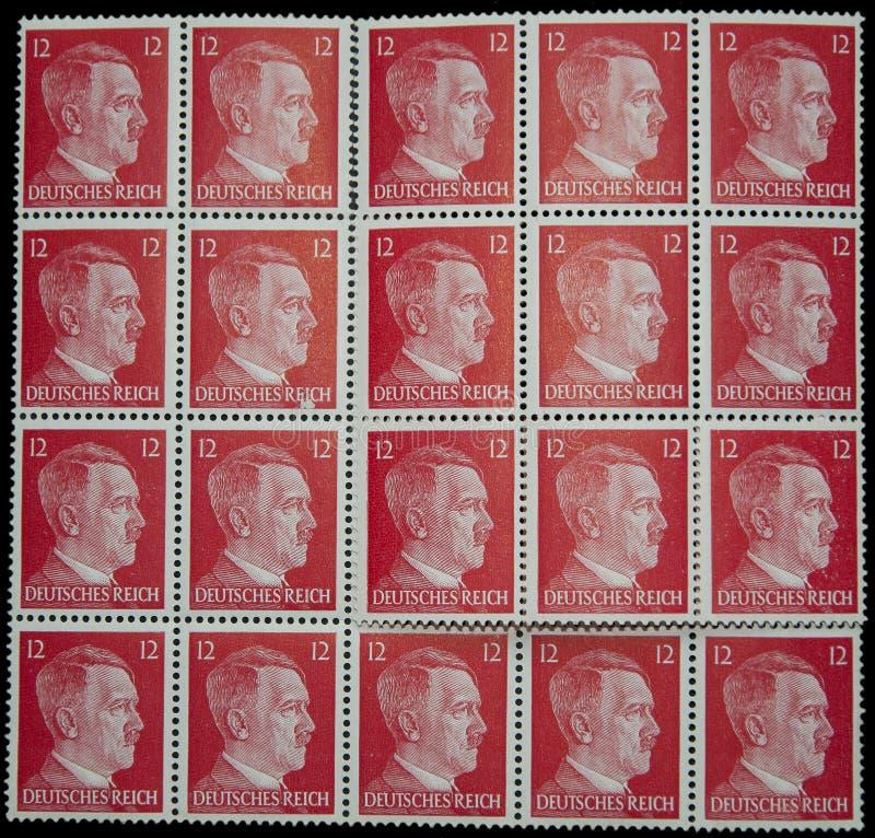 Selos do cargo de Adolf Hitler imagem de stock