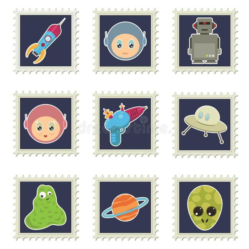 Selos do espaço ilustração do vetor