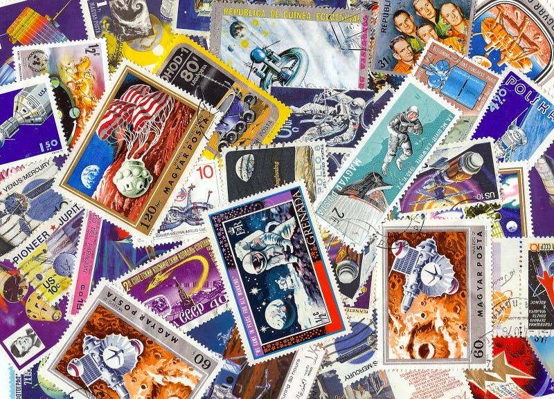 selos do espaço do vintage fotos de stock