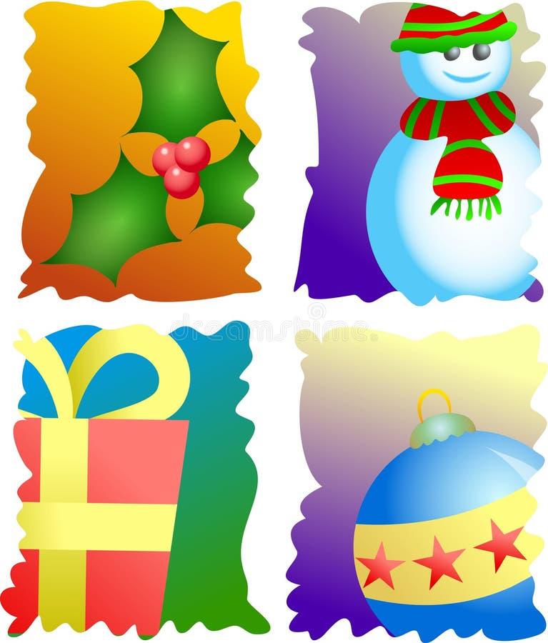 Selos do Natal ilustração do vetor