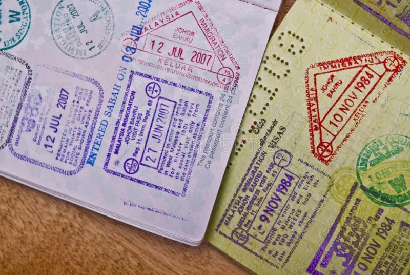 Selos do passaporte foto de stock royalty free