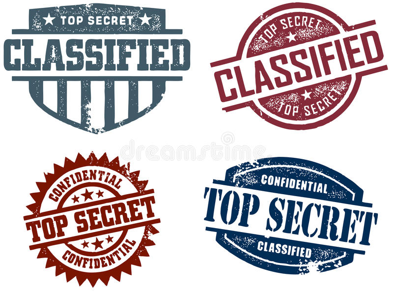Selos do segredo máximo ilustração do vetor
