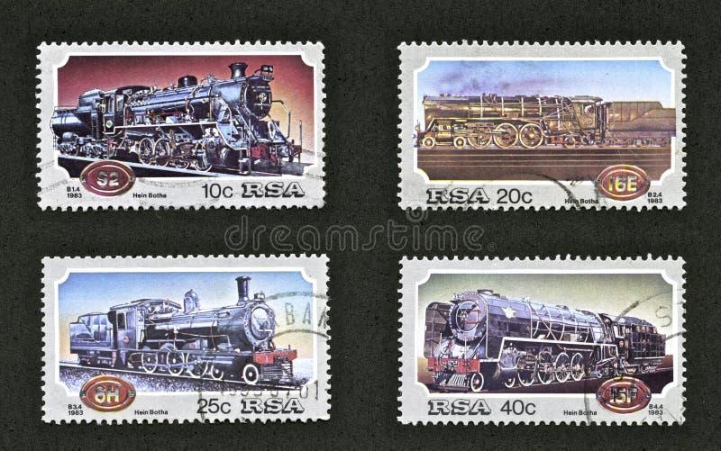 Selos do trem imagens de stock