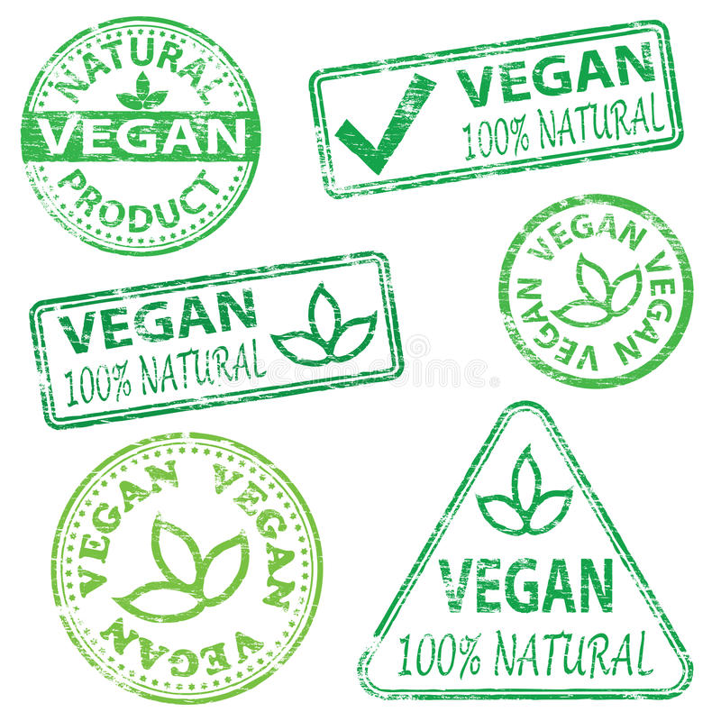 Selos do vegetariano ilustração do vetor