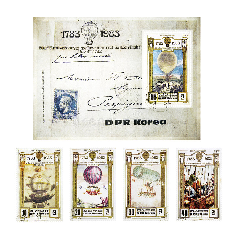 Selos do vintage de DPR Coreia fotos de stock