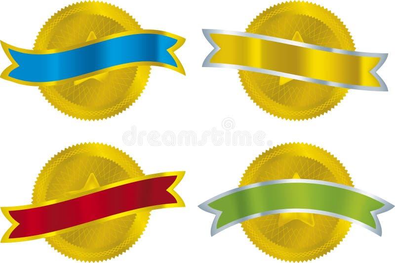 Selos metálicos ilustração stock