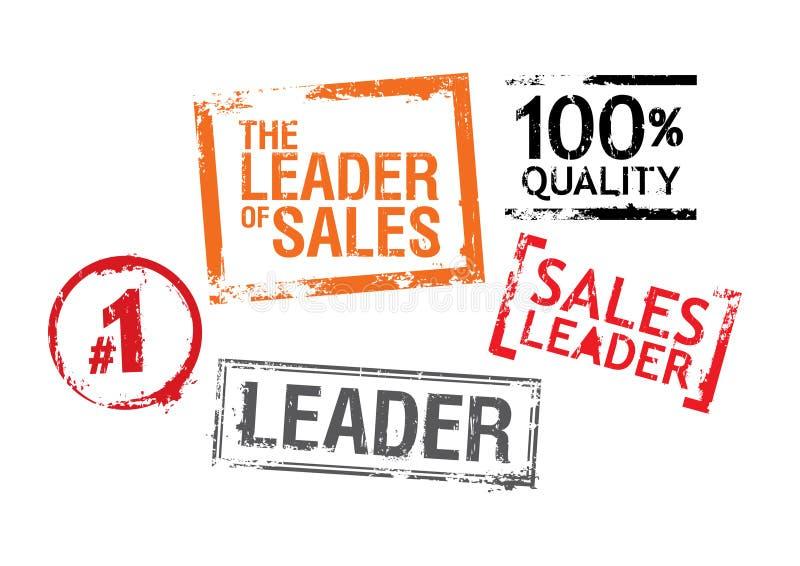 Selos para líderes das vendas ilustração royalty free