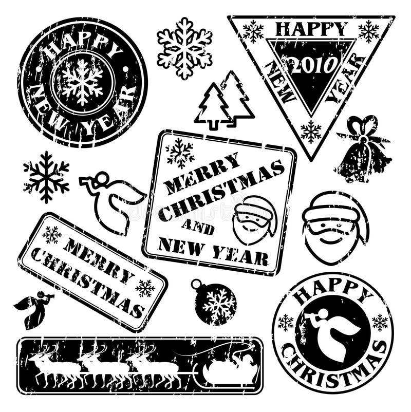 Selos postais ilustração royalty free