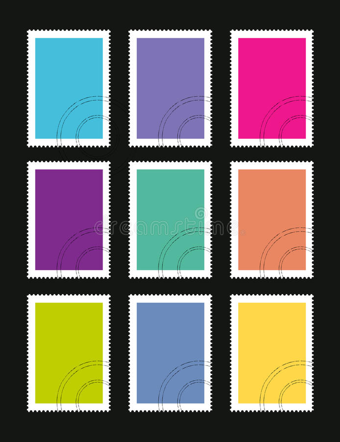 Selos postais ilustração stock