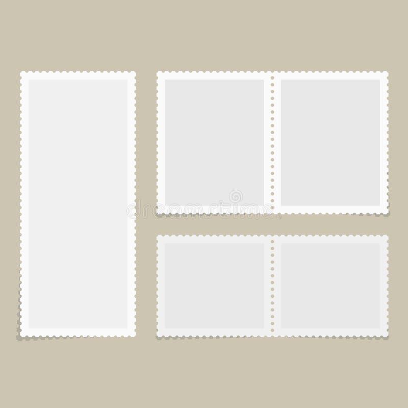 Selos postais para o cartão ilustração royalty free