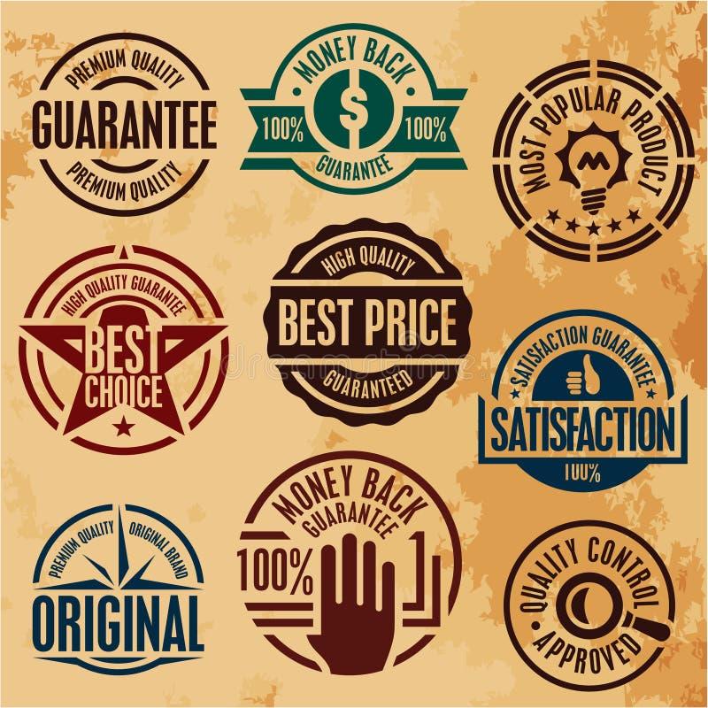 Selos superiores da garantia de qualidade ilustração do vetor