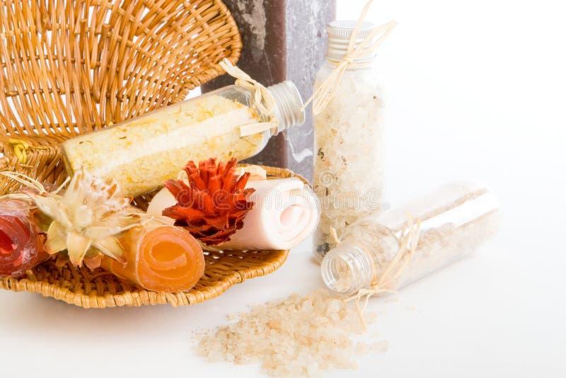 Sels de Bath avec du savon image stock