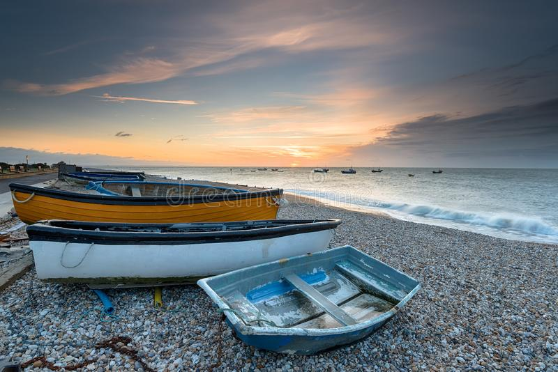 Selsey-Strand in Sussex stockfoto