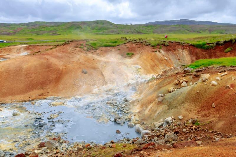 Seltún geotermiczny teren krysuvÃk, Iceland zdjęcia royalty free