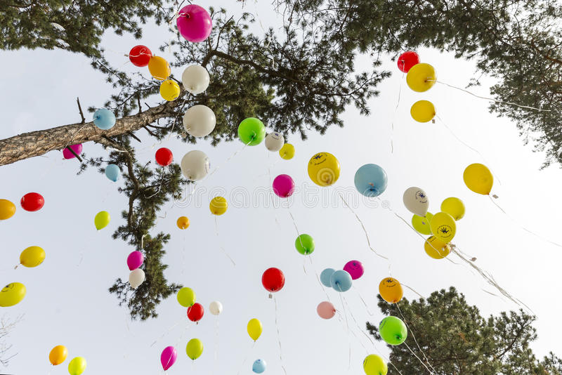 Seltene Krankheitsballone lizenzfreies stockbild