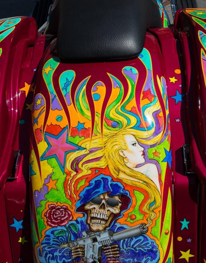 Seltsame Motorradgrafik lizenzfreie stockbilder